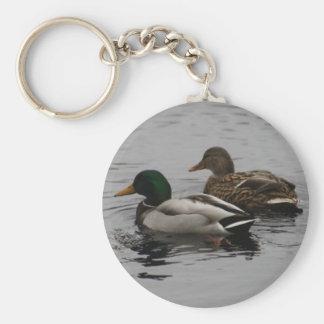 Drake and Hen Basic Round Button Key Ring