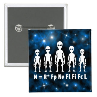 Drake Equation Alien Civilizations Formula 15 Cm Square Badge