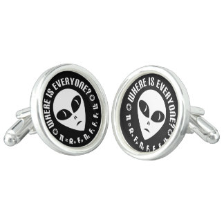 Drake Equation Extraterrestrial Alien Astronomy Cuff Links