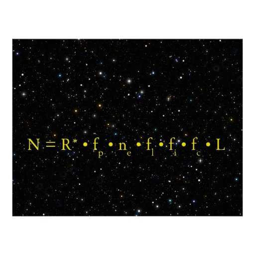 DRAKE EQUATION - HOW MANY ARE OUT THERE POSTER
