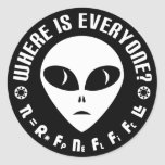 Drake Equation vs Fermi Paradox Astronomy Round Sticker