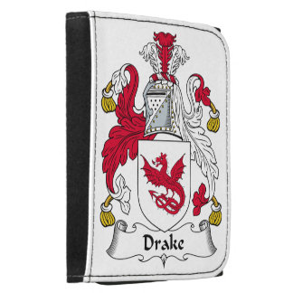 Drake Family Crest Leather Trifold Wallets