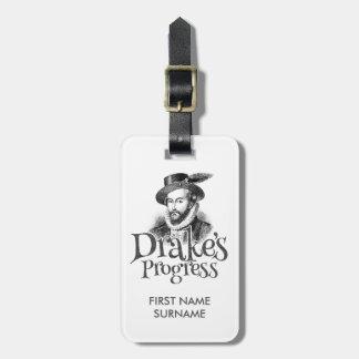 Drake's Progress band guitar case / luggage tag