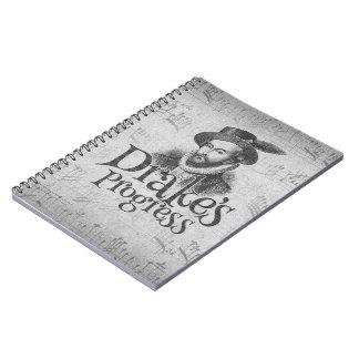 Drake's Progress band notebook