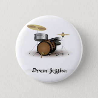 Dram session 6 cm round badge
