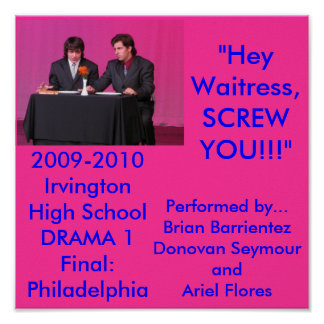 Drama 1 Final: Philadelphia skit poster