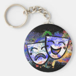 Drama: A Splash of Technicolor Basic Round Button Key Ring
