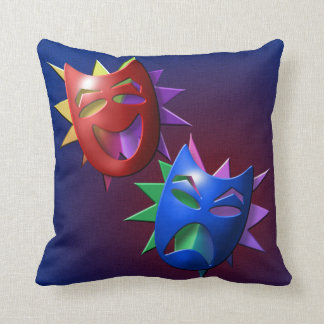 Drama and Comedy Masks Throw Pillow