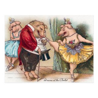 Drama at the Ballet Postcard