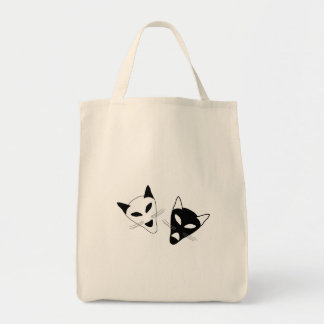 Drama Cat Masks Tote Bag