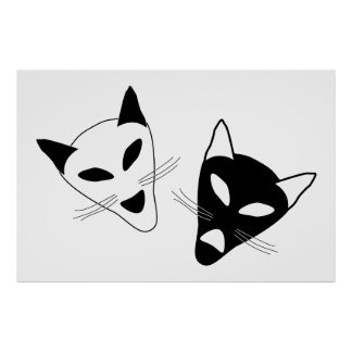 Drama Cats Birthday Posters