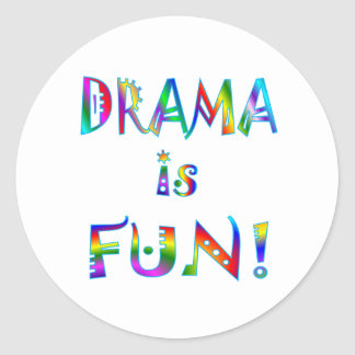 Drama Classic Round Sticker