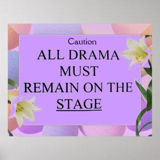 Drama free zone_ Poster