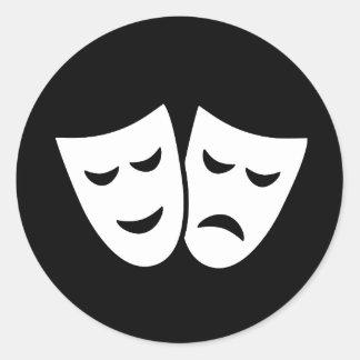 Drama Ideology Round Sticker