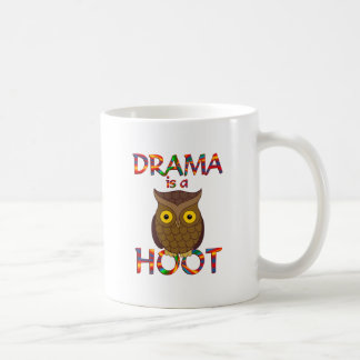Drama is a Hoot Coffee Mug