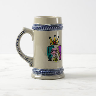 Drama King with Drama King in script letters Beer Steins