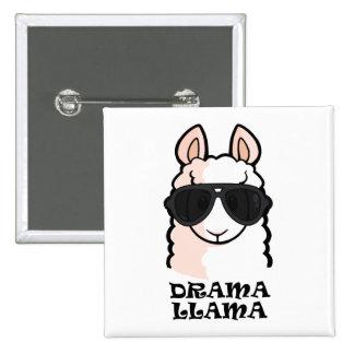 Drama Llama 15 Cm Square Badge