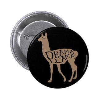 Drama Llama 6 Cm Round Badge