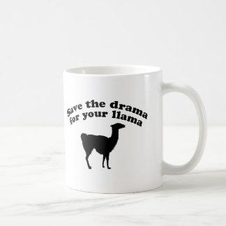Drama Llama Basic White Mug