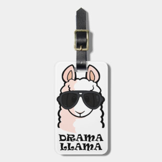 Drama Llama Luggage Tag