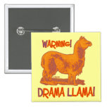 Drama Llama Pinback Buttons