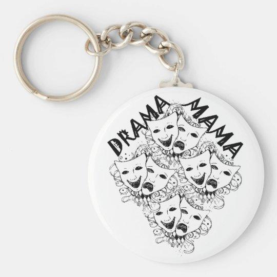 Drama Mama B&W Keychain