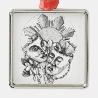Drama Mask Hibiscus Sampaguita Flower Philippine S Christmas Ornament