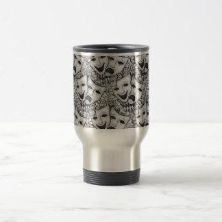 Drama Mask Silver Tone Mug