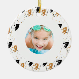 Drama Mask Theatre Themed Custom Photo Christmas Ornament