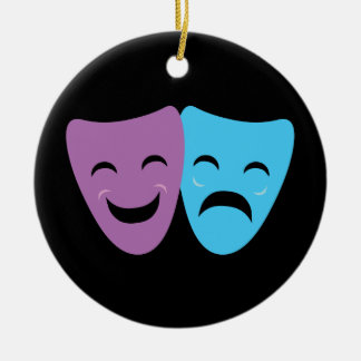 Drama Masks Christmas Ornament