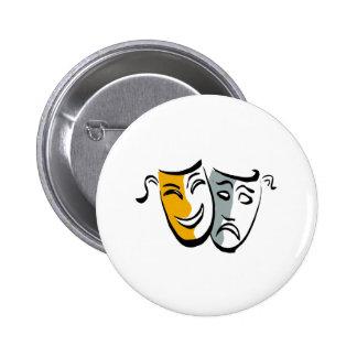 Drama masks merchandise 6 cm round badge
