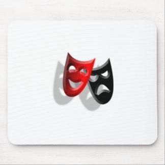 Drama Masks Mouse Mat