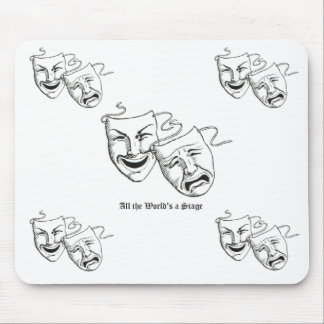 drama masks mouse mouse mat