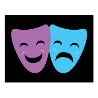 Drama Masks Postcards