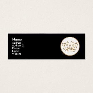Drama Masks (White & Gold) Mini Business Card