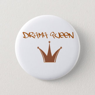 drama queen [] 6 cm round badge