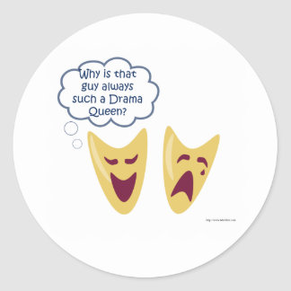 Drama Queen Classic Round Sticker