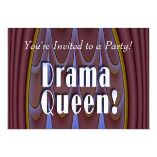 Drama Queen! 13 Cm X 18 Cm Invitation Card
