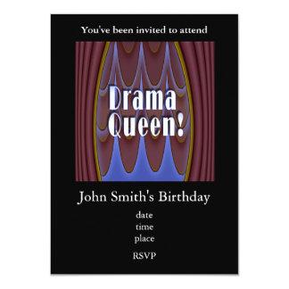 Drama Queen! 11 Cm X 16 Cm Invitation Card