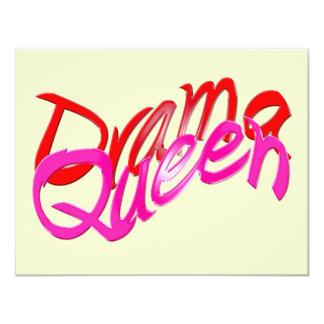 Drama Queen 11 Cm X 14 Cm Invitation Card