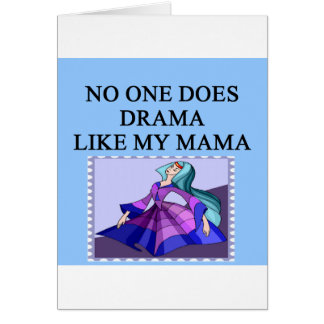 DRAMA queen mother joe Greeting Cards