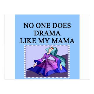 DRAMA queen mother joe Postcard