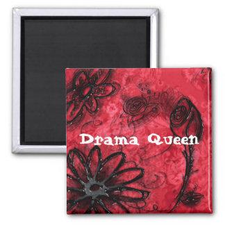 Drama Queen Square Magnet