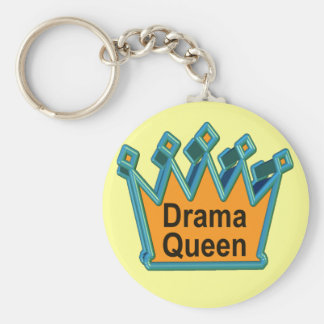 Drama Queen T-shirts and Gifts For Her Basic Round Button Key Ring