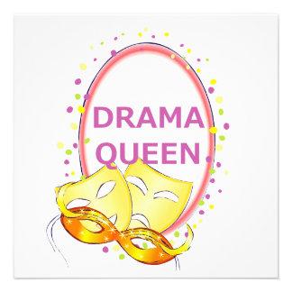 Drama Queen Theater Masks Invitations