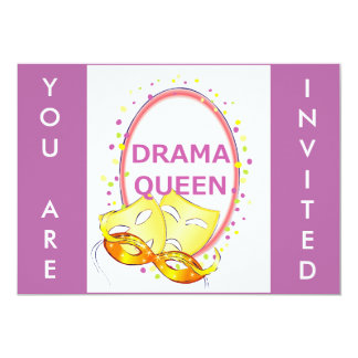 Drama Queen Theater Masks Announcements