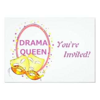 Drama Queen Theater Masks 13 Cm X 18 Cm Invitation Card
