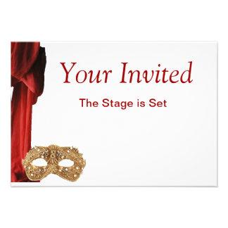 Drama Queen Theatre Opera Play Museum Invite
