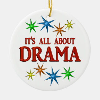 Drama Stars Round Ceramic Decoration