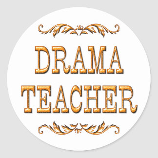 Drama Teacher Classic Round Sticker